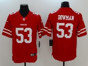 Mens San Francisco 49ers #53 Navorro Bowman Red Vapor Untouchable Limited Jersey