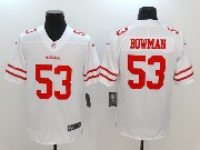 Mens San Francisco 49ers #53 Navorro Bowman White Vapor Untouchable Limited Jersey