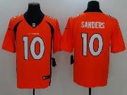 Mens Nfl Denver Broncos #10 Emmanuel Sanders Orange Vapor Untouchable Limited Jersey
