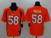 Mens Nfl Denver Broncos #58 Von Miller Orange Vapor Untouchable Limited Jersey
