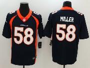 Mens Nfl Denver Broncos #58 Von Miller Blue Vapor Untouchable Limited Jersey