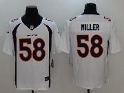 Mens Nfl Denver Broncos #58 Von Miller White Vapor Untouchable Limited Jersey
