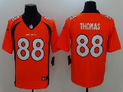 Mens Nfl Denver Broncos #88 Demaryius Thomas Orange Vapor Untouchable Limited Jersey