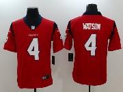Mens Houston Texans #4 Deshaun Watson Red Vapor Untouchable Limited Jersey