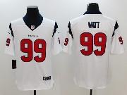 Mens Houston Texans #99 Jj Watt White Vapor Untouchable Limited Jersey