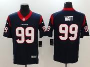 Mens Houston Texans #99 Jj Watt Blue Vapor Untouchable Limited Jersey