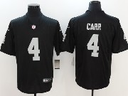 Mens Nfl Oakland Raiders #4 Derek Carr Black Vapor Untouchable Limited Jersey