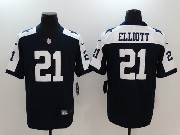 Mens Dallas Cowboys #21 Ezekiel Elliott Blue Thanksgiving Vapor Untouchable Limited Jersey