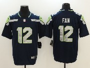 Mens Nfl Seattle Seahawks #12 Fan Blue Vapor Untouchable Limited Jersey