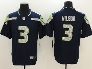 Mens Nfl Seattle Seahawks #3 Russell Wilson Blue Vapor Untouchable Limited Jersey