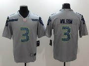 Mens Nfl Seattle Seahawks #3 Russell Wilson Grey Vapor Untouchable Limited Jersey