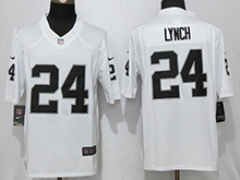 Mens Nfl Oakland Raiders #24 Marshawn Lynch White Limited Jersey