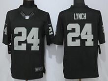 Mens Nfl Oakland Raiders #24 Marshawn Lynch Black Limited Jersey
