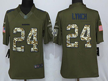 Mens Nfl Oakland Raiders #24 Marshawn Lynch Green Salute To Service Limited Jersey