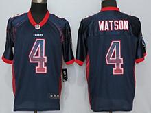 Mens Houston Texans #4 Deshaun Watson Blue Drift Fashion Elite Jersey