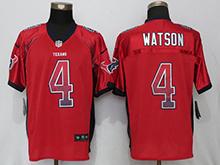 Mens Houston Texans #4 Deshaun Watson Red Drift Fashion Elite Jersey