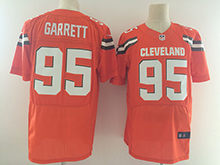 Mens Nfl Cleveland Browns #95 Bobby Garrett Orange Elite Jersey