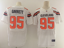 Mens Nfl Cleveland Browns #95 Bobby Garrett White Elite Jersey
