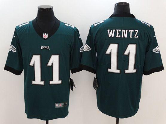 Mens Nfl Philadelphia Eagles #11 Carson Wentz Green Vapor Untouchable Limited Jersey