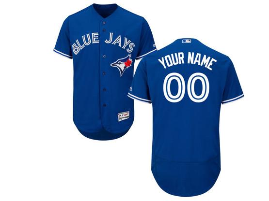 Mens Majestic Toronto Blue Jays Custom Made Blue Flex Base Jersey