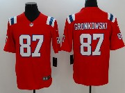 Mens New England Patriots #87 Rob Gronkowski Red Vapor Untouchable Limited Jersey