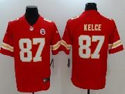 Mens Nfl Kansas City Chiefs #87 Travis Kelce Red Vapor Untouchable Limited Jersey