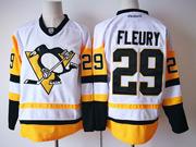 Mens Reebok Nhl Pittsburgh Penguins #29 Marc-andre Fleury Away Premier White Jersey