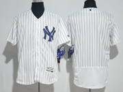 Mens Majestic New York Yankees Blank White Flex Base Jersey