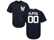 Mens Women Youth Mlb New York Yankees (custom Made) Blue Cool Base Jersey With Name