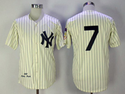 Mens Mlb New York Yankees #7 Mickey Mantle Cearm Throwbacks Jersey