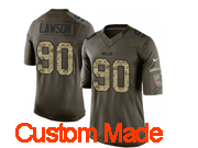 Mens Nfl Buffalo Bills Custom Made Green Salute To Service Limited Jersey