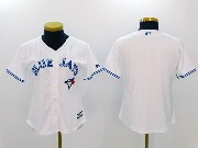 Women Mlb Toronto Blue Jays Blank White Cool Base Jersey