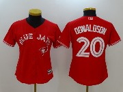 Women Mlb Toronto Blue Jays #20 Josh Donaldson New Red Cool Base Jersey