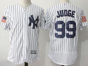 Mens Majestic New York Yankees #99 Aaron Judge White 2017 Stars And Stripes Flex Base Jersey