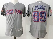 Mens Majestic New York Yankees #99 Aaron Judge Grey 2017 Stars And Stripes Flex Base Jersey