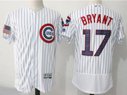 Mens Majestic Mlb Chicago Cubs #17 Kris Bryant White 2017 Stars And Stripes Flex Base Jersey