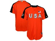 Mens Women Youth 2017 Mlb All Star Game Usa Orange Cool Bass Jersey