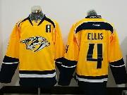 Mens Reebok Nhl Nashville Predators #4 Ryan Ellis Home Gold Jersey