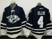Mens Reebok Nhl Nashville Predators #4 Ryan Ellis Dark Blue Jersey
