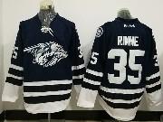 Mens Reebok Nhl Nashville Predators #35 Pekka Rinne Dark Blue Jersey