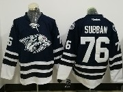 Mens Reebok Nhl Nashville Predators #76 P. K. Subban Dark Blue Jersey