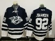 Mens Reebok Nhl Nashville Predators #92 Ryan Johansen Dark Blue Jersey
