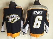 Mens Ccm Nhl Nashville Predators #6 Shea Weber Dark Blue Throwback Jersey