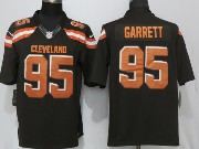 Mens Nfl Cleveland Browns #95 Bobby Garrett Brown Limited Jersey