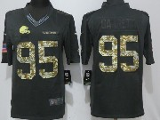 Mens Nfl Cleveland Browns #95 Bobby Garrett Black Anthracite Salute To Service Limited Jersey