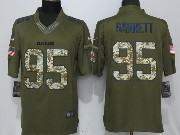 Mens Nfl Cleveland Browns #95 Bobby Garrett Green Salute To Service Limited Jersey
