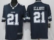 Mens Dallas Cowboys #21 Ezekiel Elliott Blue Vapor Untouchable Limited Jersey