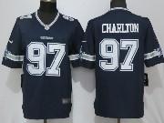 Mens Dallas Cowboys #97 Taco Charlton Blue Limited Jersey