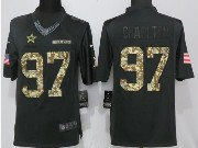 Mens Dallas Cowboys #97 Taco Charlton Black Anthracite Salute To Service Limited Jersey