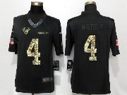 Mens Houston Texans #4 Deshaun Watson Black Anthracite Salute To Service Limited Jersey